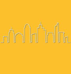 minimalist style city skyline urban landscape vector image