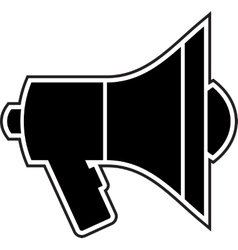 Mouthpiece black vector image