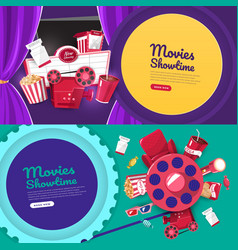 Movie cinema design element vector