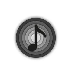 Music note sign musical round 3d logo emblem vector