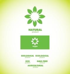 Natural bio product badge vector