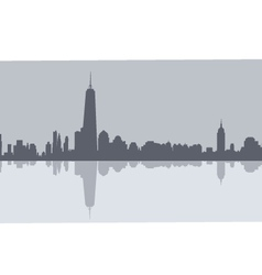 Newyork morning skyline vector