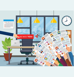 office chair hiring and recruiting vector image
