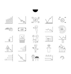 Outline web icon set - money finance payments vector