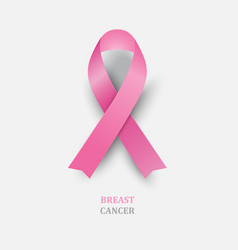 pink ribbon - breast cancer awareness vector image