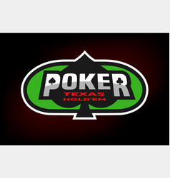 poker emblem on the background of a green table vector image