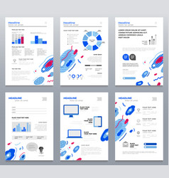 presentation booklets - template a4 pages vector image