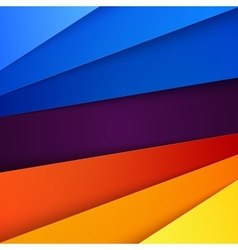 Red orange yellow and blue paper layers abstract vector image