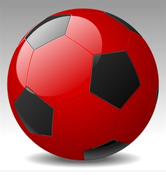 red soccer ball vector image