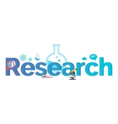 Research Banner Flat Style Design vector image