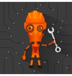 Robot electronics technology vector image