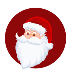 santa claus merry christmas vector image