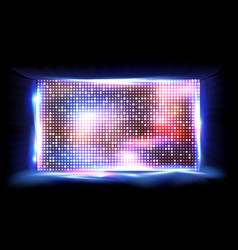 Screen led display projection stadium vector