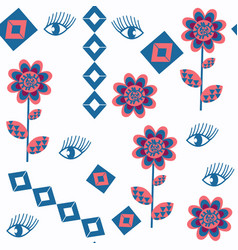 seamless abstract eyes pattern it is located in vector image