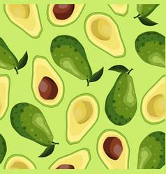 Seamless avocado background vector