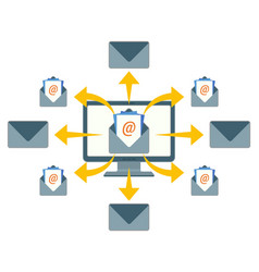 Sending email messages with purpose enhancing vector