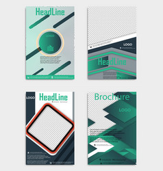 Set of template flyer black with elements for vector