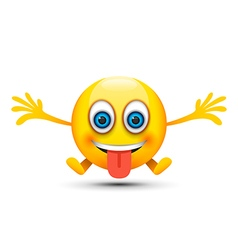silly emoji character vector image