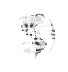 simple black earth vector image