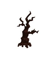 Sinister tree icon in cartoon style vector image