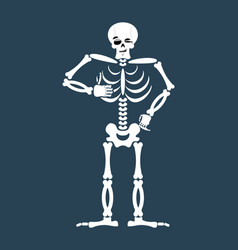 Skeleton thumbs up emoji skull winks emotion vector
