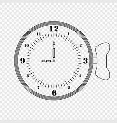 sketch of a creative clockg vector image