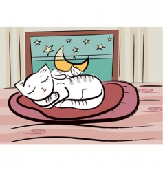 Sleep cats vector
