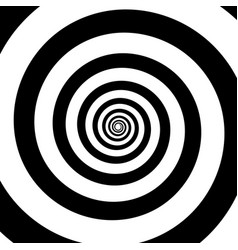 spiral color black on the white background vector image