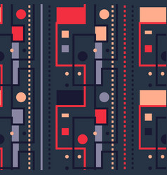 Streets and city lights seamless pattern vector