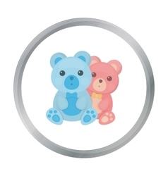 Teddy bears icon in cartoon style isolated on vector image