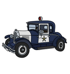 the vintage police car vector image