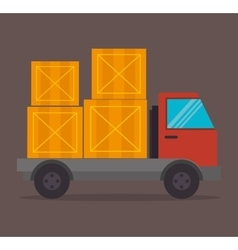 Transport delivery and shipping vector image