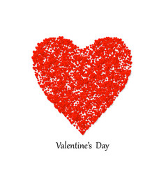 valentines day heart shape with lot vector image