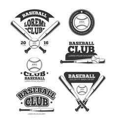 vintage baseball sports old logos vector image