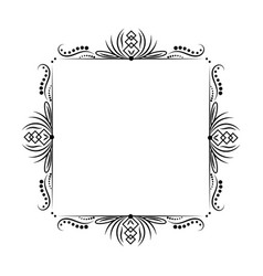 Vintage black outline classic frame vector