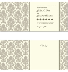 vintage documents or invitation vector image