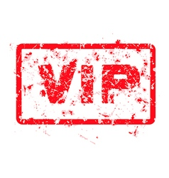 word VIP red grunge stamp isolated vector image