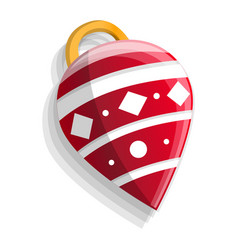 xmas tree cone toy icon cartoon style vector image
