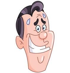 embarrassed man face vector image vector image