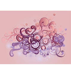 Ornament with floral and circles vector image