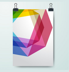 Poster minimal design template business geometric vector