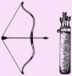 bow arrow vector image vector image