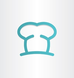 chef icon cooking hat vector image