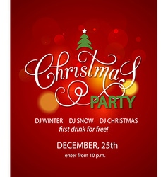 Christmas Party background design template vector image vector image