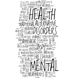 mental health care text background word cloud vector image vector image