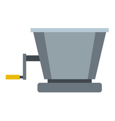 Metal retro juicer or grinder icon isolated vector