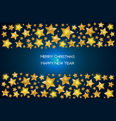 new year background with christmas star vector image