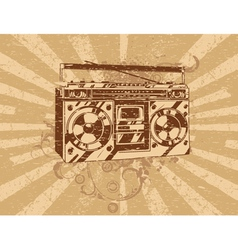 retro ghetto blaster tape deck vector image