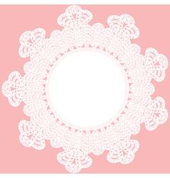round crochet doily vector image