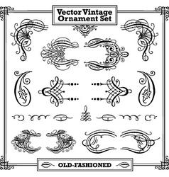 vector vintage ornament set vector image vector image